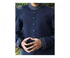 Suiting Sherwani Kurta Dark Blue