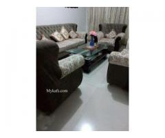 Excellent Condition 7 Seater Sofa Set with Habbit Centre Table