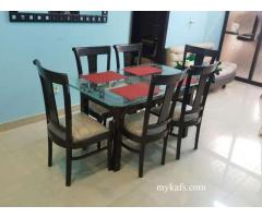 Slightly used Dinning Table with 6 Chairs