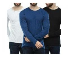 Neck Full Sleeves Tee Shirts